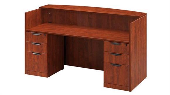 Reception Desks Office Source Double Pedestal Reception Desk