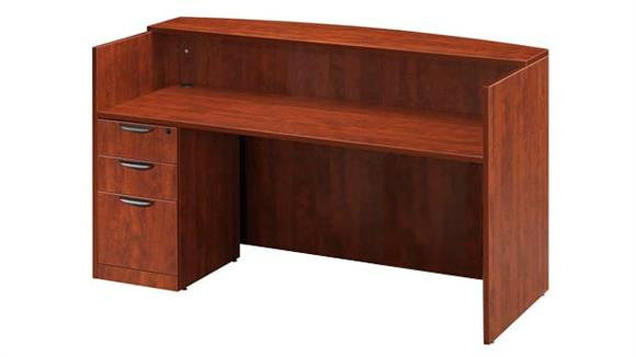 Reception Desks Office Source Single Pedestal Reception Desk
