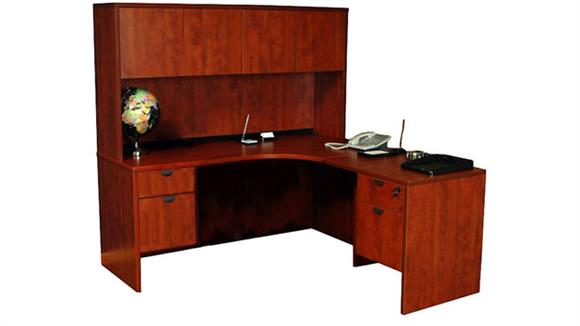 L Shaped Desks Office Source L Shaped Desk with Hutch