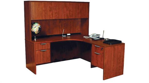 "L Shaped Desks Office Source 71"" x 71"" L Shaped Desk with Hutch"
