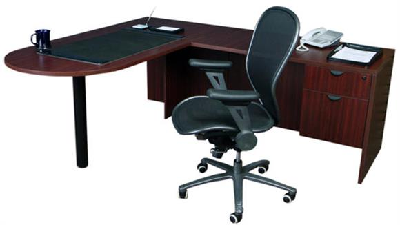 "L Shaped Desks Office Source 66"" x 78"" Bullet L Shaped Desk"