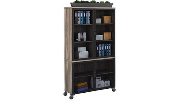 Storage Cabinets Office Source Mobile Storage Cabinet with Metal Doors