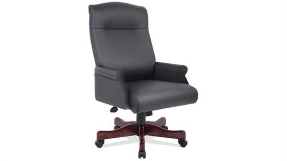 Office Chairs Office Source Executive Black Leather Roll Arm Chair