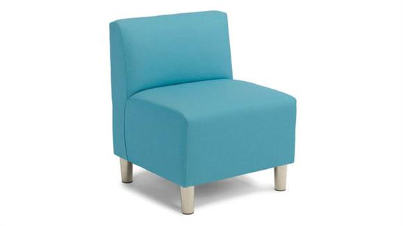 Accent Chairs Office Source Single Armless Chair - Fabric