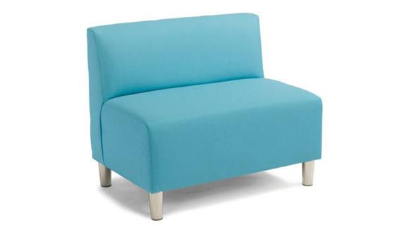 Accent Chairs Office Source Double Armless Chair - Fabric