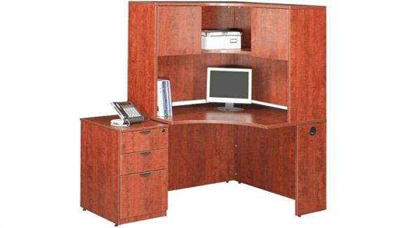 Corner Desks Office Source Corner Desk with Hutch and File