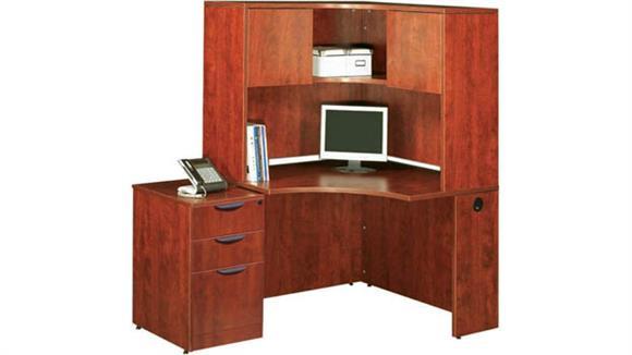 Corner Desks Office Source Corner Desk with Hutch and File