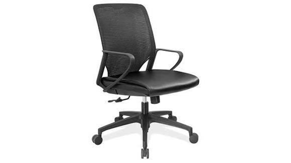 Office Chairs Office Source Executive Mid Back Leather & Mesh Chair