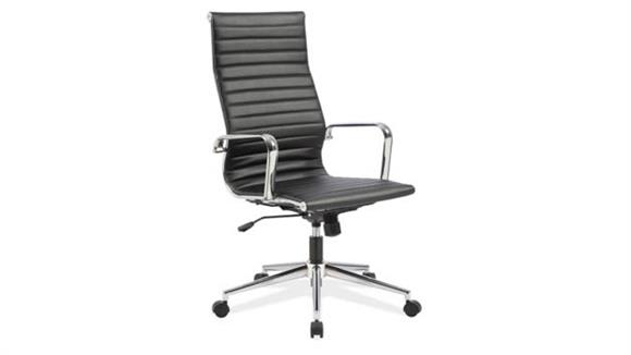 Office Chairs Office Source High Back Chair with Aluminum Frame