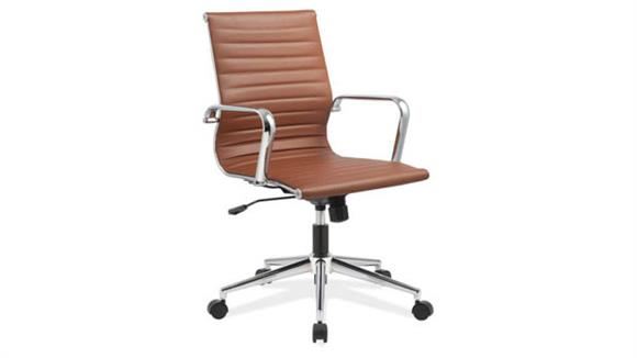 Office Chairs Office Source Mid Back Chair with Aluminum Frame