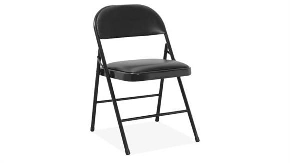 Folding Chairs Office Source Steel Folding Chair with Padded Seat & Back