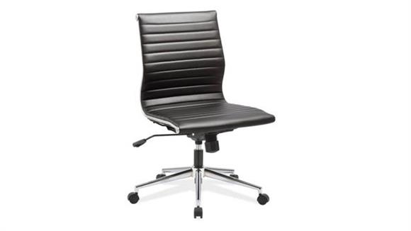 Office Chairs Office Source Armless Mid Back Chair with Aluminum Frame