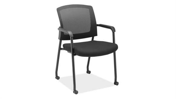 Side & Guest Chairs Office Source Micro Side Chair with Casters