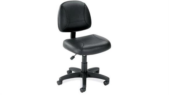 Office Chairs Office Source Black Leather Armless Task Chair