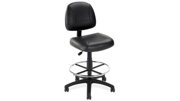 Drafting Stools Office Source Black Leather Task Stool