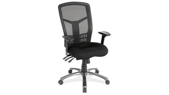 Office Chairs Office Source Cool Mesh High Back Chair with Fabric Seat and Black Base