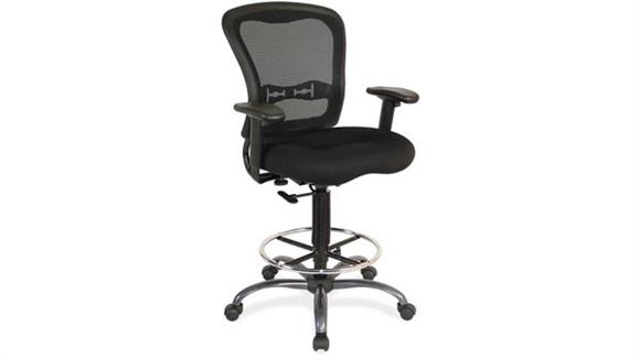 Office Chairs Office Source Mesh Back Stool with Arms - Mesh Seat