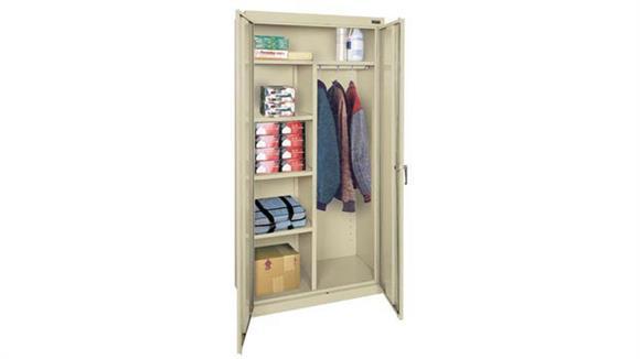 "Storage Cabinets Office Source 72"" x 36"" Wardrobe and Storage Cabinet"
