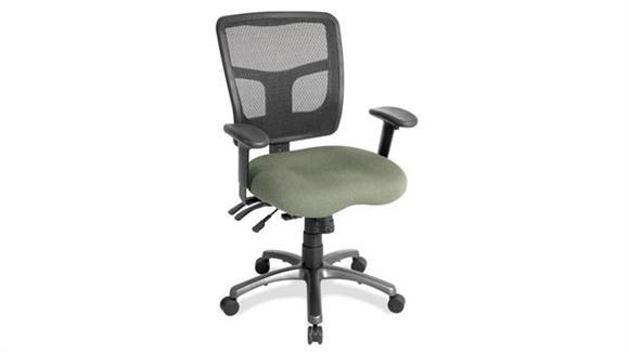 Office Chairs Office Source Cool Mesh Mid Back Chair with Fabric Seat and Aluminum Base