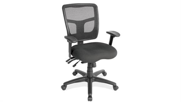 Office Chairs Office Source Cool Mesh Mid Back Chair with Fabric Seat
