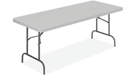 "Folding Tables Office Source 96"" x 30"" Blow Mold Folding Table"