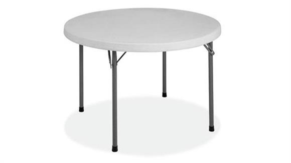 "Folding Tables Office Source 60"" Round Blow Mold Folding Table"