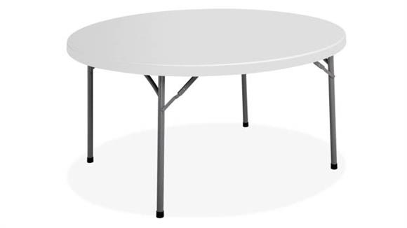 "Folding Tables Office Source 71"" Round Blow Mold Folding Table"