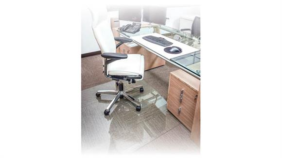 "Chair Mats Office Source 40"" x 60"" Glass Chairmat"