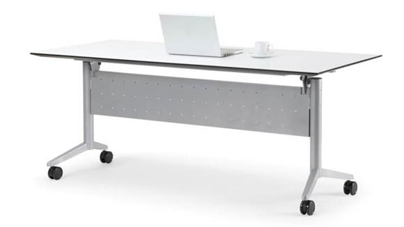 "Training Tables Office Source 72"" x 24"" Nesting Table with Modesty Panel"