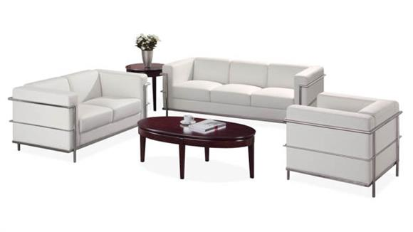 Sofas Office Source Sofa with Chrome Exposed Frame
