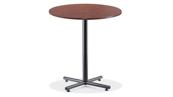 "Cafeteria Tables Office Source 36"" Round Cafe Height Table with Black Base"