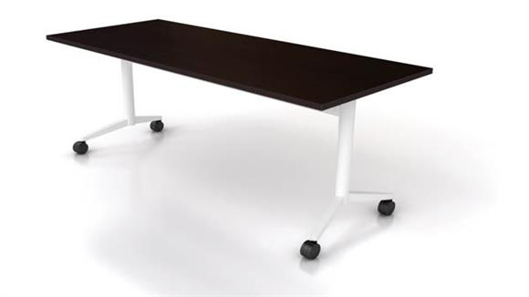 "Training Tables Office Source 48"" x 24"" Flip Top Nesting Table"