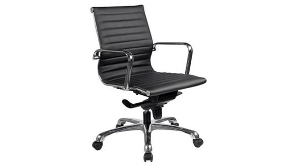 Office Chairs Office Source Executive Mid Back Chair with Chrome Frame
