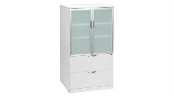 File Cabinets Lateral Office Source 2 Drawer Lateral File with Storage