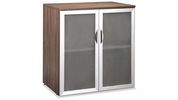 Storage Cabinets Office Source Storage Cabinet with Glass Doors