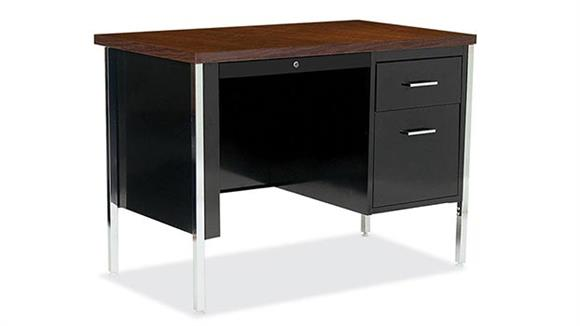 "Steel & Metal Desks Office Source 45"" x 24"" Steel Desk"
