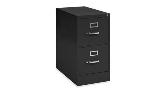 "File Cabinets Vertical Office Source 25"" Deep 2 Drawer Vertical File"