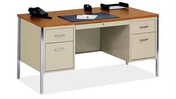"Steel & Metal Desks Office Source 60"" x 30"" Steel Desk"