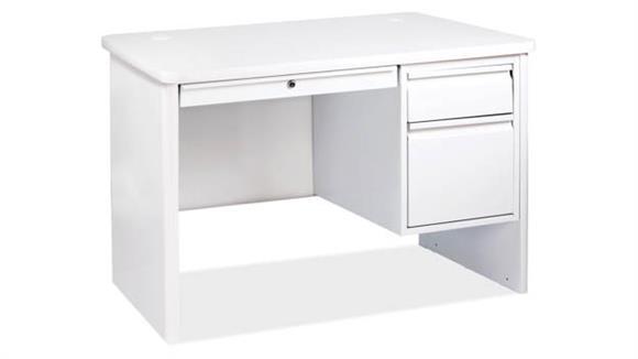 Steel & Metal Desks Office Source Single Right 3/4 Pedestal Steel Desk