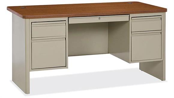 Steel & Metal Desks Office Source Double Pedestal Steel Desk