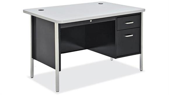 "Steel & Metal Desks Office Source 48"" x 30"" Steel Teachers Desk"