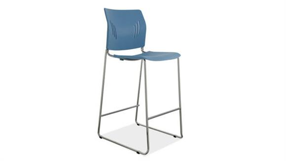 Counter Stools Office Source Polyurethane Stool with Chrome Frame