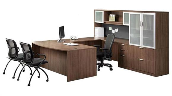U Shaped Desks Office Source U Shaped Desk with Hutch and Additional Storage