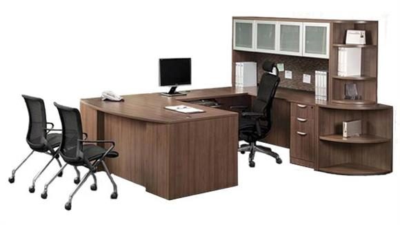 U Shaped Desks Office Source U Shaped Desk with Hutch