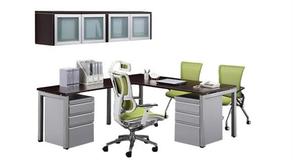 L Shaped Desks Office Source L Shaped Table Desk with Hutch