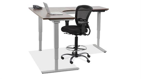 "Adjustable Height Desks & Tables Office Source 72"" x 72"" Electric Adjustable Height Corner Table"