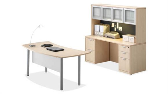 Executive Desks Office Source Desk with Credenza & Hutch