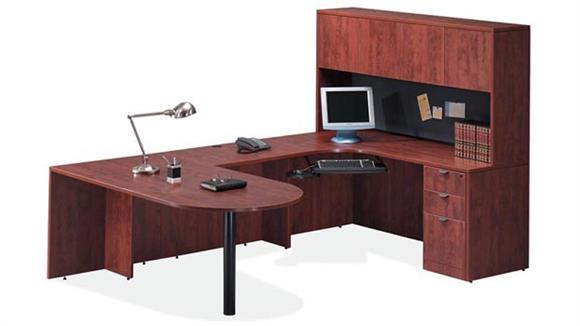 U Shaped Desks Office Source Bullet U Shaped Desk with Hutch