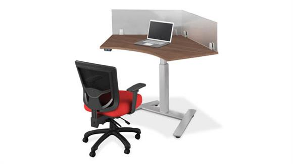 Workstations & Cubicles Office Source 120 Degree Desk Workstation