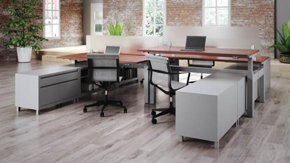 Adjustable Height Desks & Tables Office Source StandUp Standing Desk Workstation for 4
